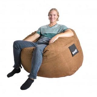 Earth Brown 4-foot Microfiber and Foam Bean Bag