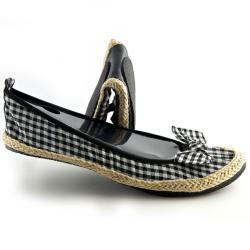 Fit In Clouds Women's Black Checkmates Flats