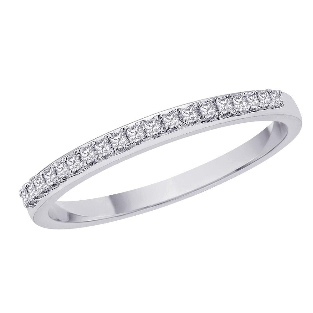 Sterling Silver 1/6ct TDW Diamond Wedding Eternity Band (G-H, I3)