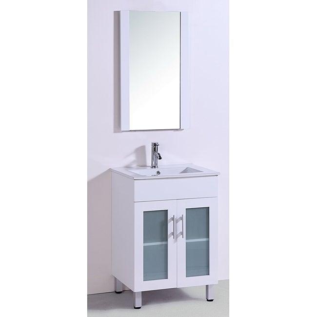 Ceramic Top 24 Inch Single Sink Bathroom Vanity With