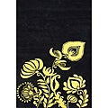 Handmade Sabrina Sunset Gold Wool Rug (5' x 8')