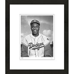 RetroGraphics Jackie Robinson Framed Sports Photo
