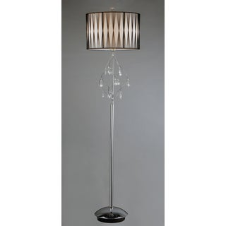 Chrome Crystal Floor Lamp
