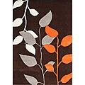 Alliyah Handmade Dark Earth New Zealand Blend Wool Rug (5' x 8')
