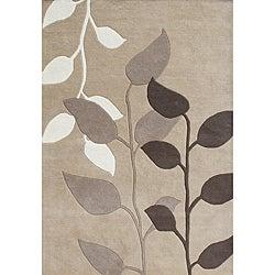 Alliyah Handmade Latte New Zealand Blend Wool Rug (8' x 10')
