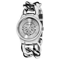 Akribos XXIV Women's Stainless Steel Twist Chain Quartz Multifunction Watch