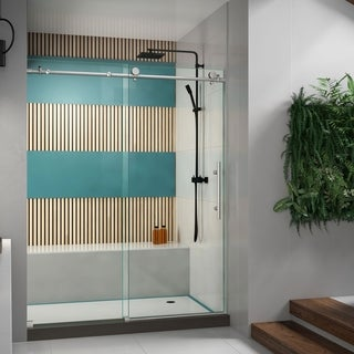 DreamLine Enigma-X 56-60x76-inch Fully Frameless Sliding Shower Door