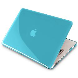 INSTEN Clear Light Blue Snap-on Laptop Case Cover for Apple MacBook Pro 13-inch