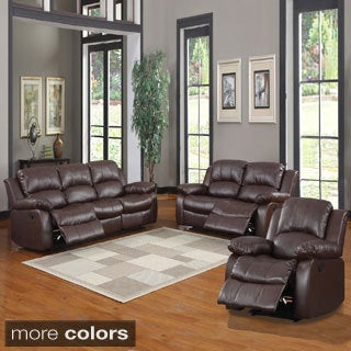 TRIBECCA HOME Coleford Tufted Transitional Reclining 3-piece Living Room Set