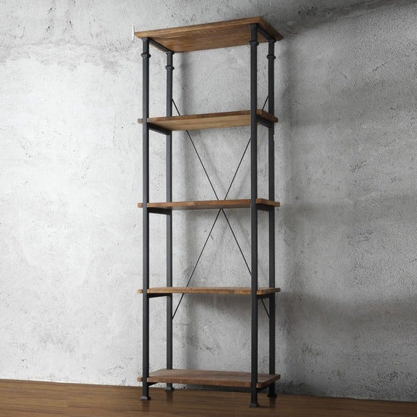 TRIBECCA HOME Myra Vintage Industrial Modern Rustic Bookcase