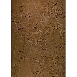 Jovi Home August Hand-tufted Tan Wool Rug (4' x 6')