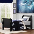 ETHAN HOME Canterbury Louis Phillip Black Twin-size Sleigh Bed