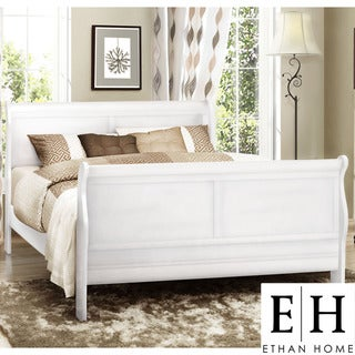 ETHAN HOME Canterbury Louis Phillip White Queen-size Sleigh Bed