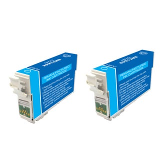 Epson T127 T127200 Remanufactured Cyan Ink Cartridges (Pack of 2)