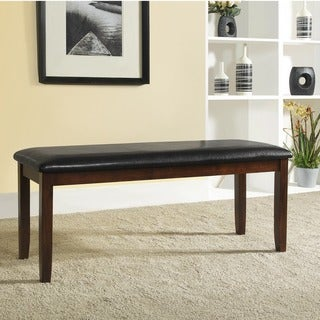 TRIBECCA HOME Winsford Burnished Cherry 48-inch Cushioned Transitional Bench