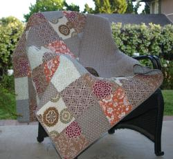 Stella Quilted Patchwork Throw