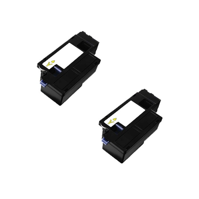 Dell 1250 1350 DG1TR / 331-0779 Compatible Yellow Toner Cartridge (Pack of 2)