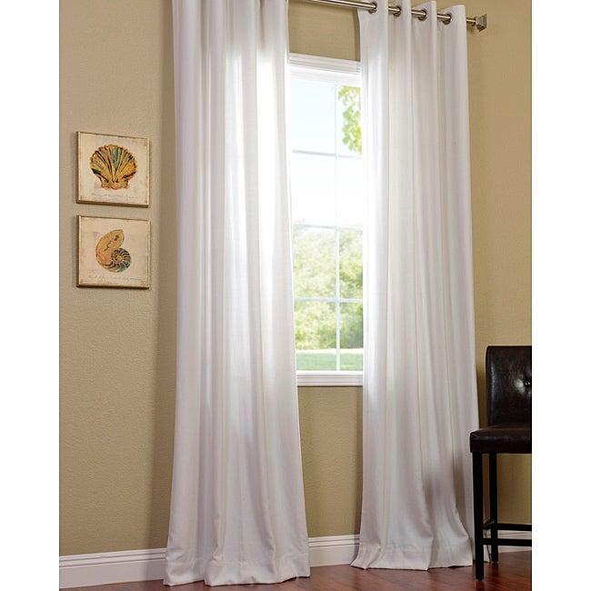 Polar White Faux Cotton Cotenza Window Curtain Panel