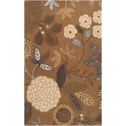 Harlequin Hand-tufted Brown Diego Martin Floral Wool Rug (9' x 12')