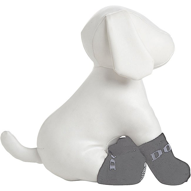 Pet Life Black Cotton Dog Socks with Rubberized Grip Bottoms