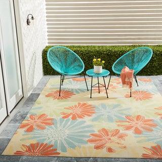Nourison Home and Garden Indoor/Outdoor Ivory Rug (7'9 x 10'10)