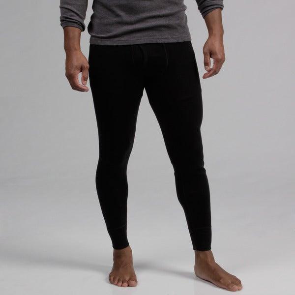 Minus33 Black Men's 'Katmai' Merino Wool Expedition Weight Base Layer Bottoms