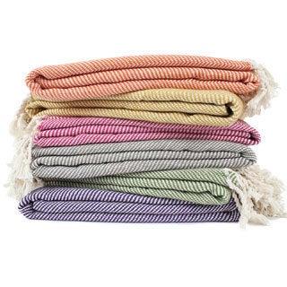 Organic Cotton Herringbone Throw