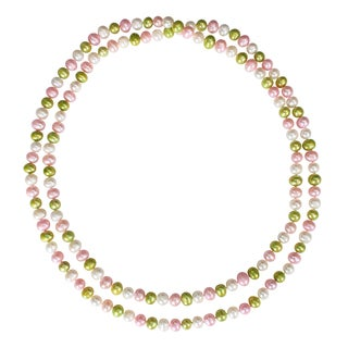 Miadora Multi-colored Cultured Freshwater Pearl Endless Necklace (9-10 mm)