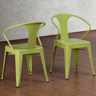 Limeade Tabouret Stacking Chairs (Set of 4)