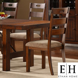 ETHAN HOME Swindon Rustic Oak Classic Dining Chair (Set of 2)