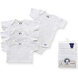 Gerber Organic Onesies in White (Pack of 4)