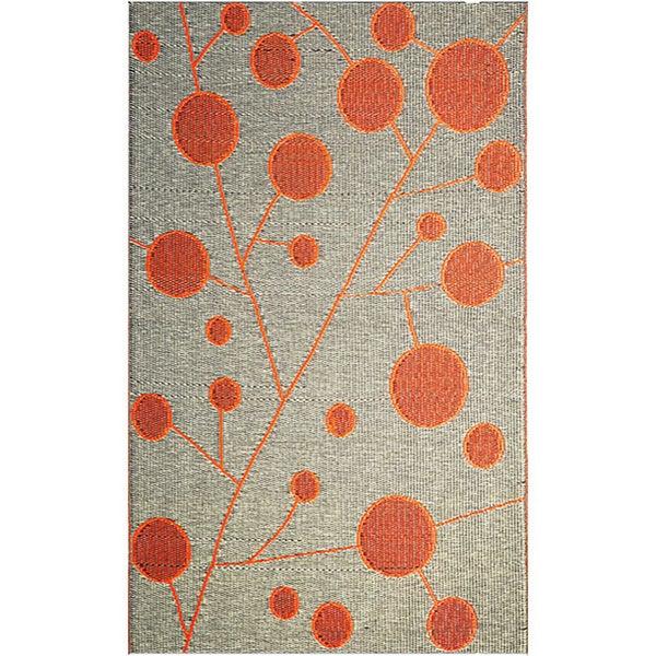 b.b.begonia Cotton Ball Reversible Orange/ Black Outdoor Area Rug (4' x 6')