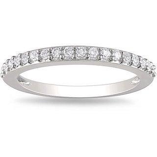 Miadora 14k White Gold 1/4 CT TDW Diamond Ring (H-I, I2-I3)