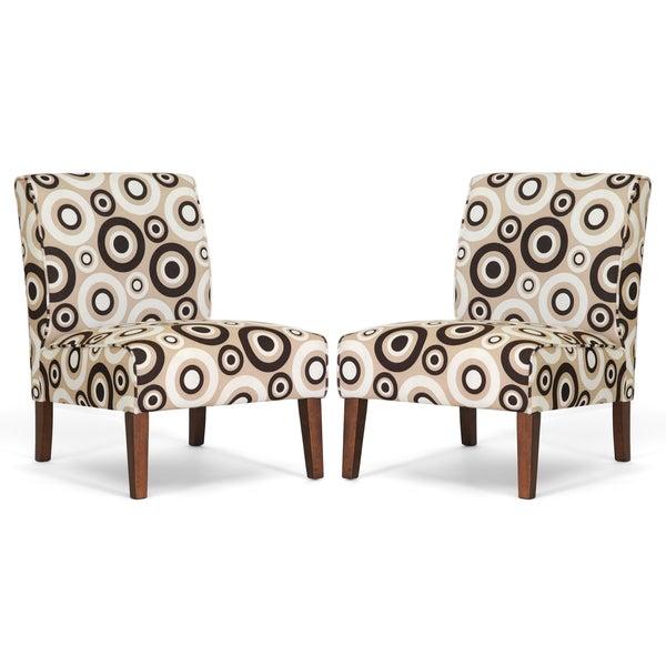 Davis Tan Circles Accent Chairs (Set of 2)