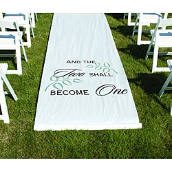 HBH White 'Two Shall Become One' Aisle Runner
