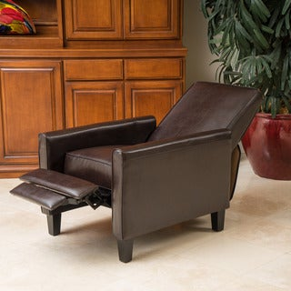 Christopher Knight Home Darvis Brown Bonded Leather Recliner Club Chair