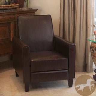 Christopher Knight Home Leather Recliner Club Chair