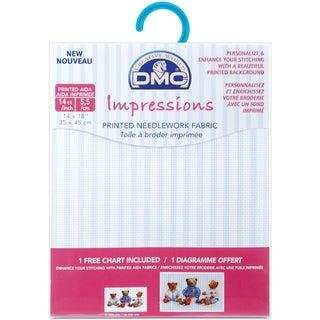 "Impressions Aida Needlework Fabric 14 Count 14""X18""-Baby Blue Stripes"