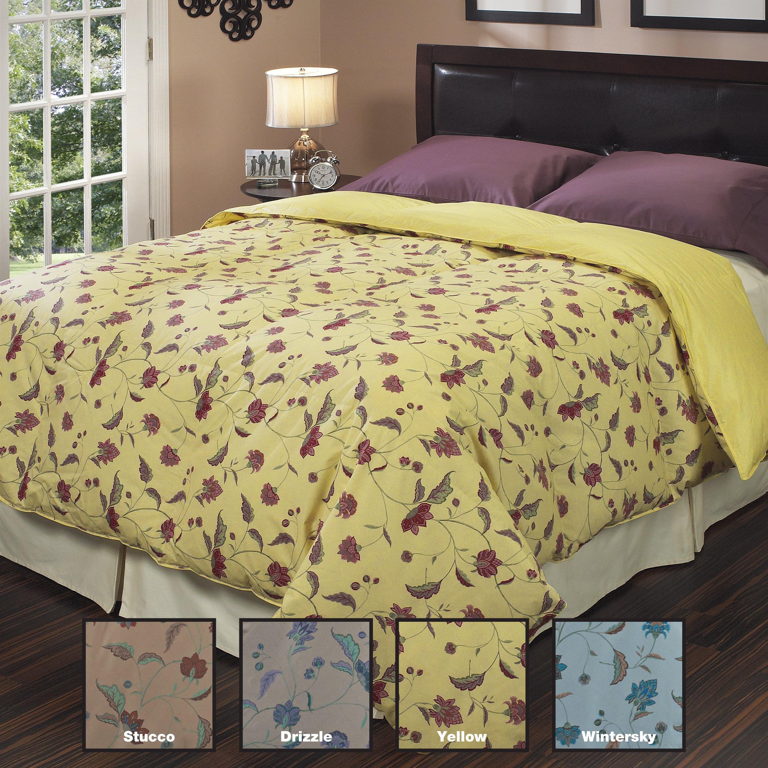 Oversized All Season Down-like DuJour Print Comforter
