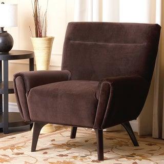 Abbyson Living Malibu Dark Brown Microsuede Armchair