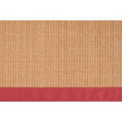 Woven Red Hillsborough West Natural Fiber Abstract Sisal Rug (9' x 12')