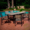 Christopher Knight Home Laguna Black Frame Outdoor 7-piece Dining Set