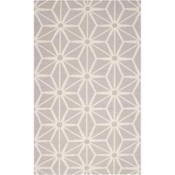 Jill Rosenwald Hand-woven Beige Faller Wool Rug (8' x 11')