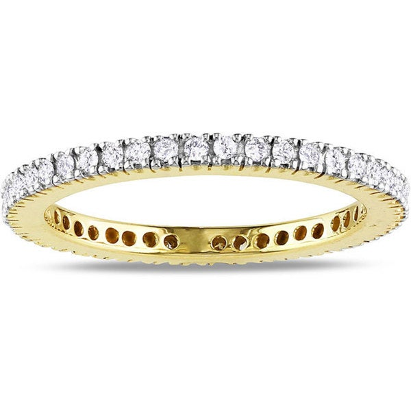 Miadora 14k Yellow Gold 1/3ct TDW Diamond Wedding Band (G-H, SI1-SI2)