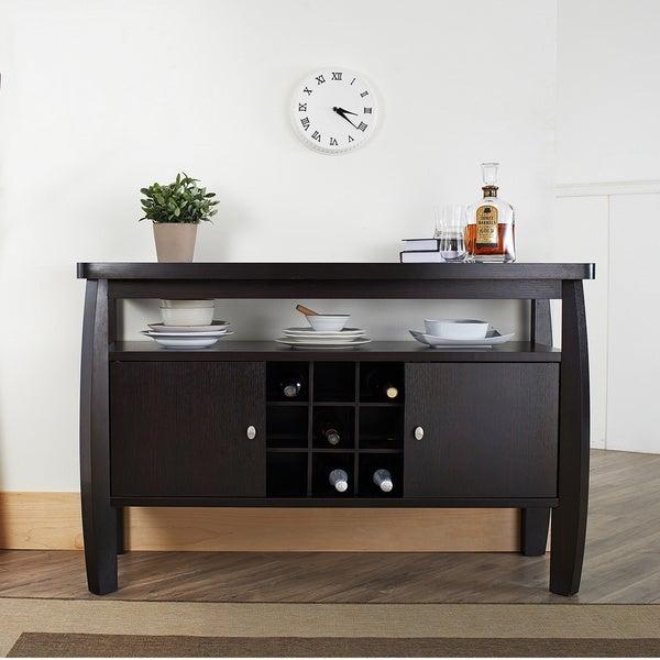 Furniture of America Zarina Dark Espresso Buffet Table