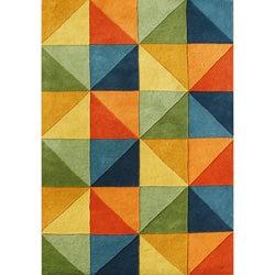 Alliyah Handmade Multi-Colored New Zealand Blend Wool Rug(8' x 10')