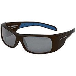 Body Glove 'Vapor 9' Matte Black Mirrored Polarized Sunglasses