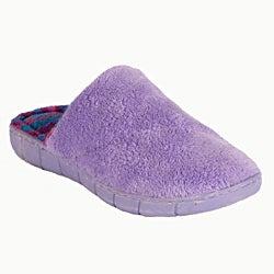 Muk Luks Women's 'Flower Fairisle' Purple Scuff Slippers