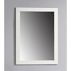 WYNDENHALL Windham 22 x 30 White Bath Vanity Decor Mirror