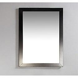 WYNDENHALL New Haven 22 x 30 Espresso Brown Bath Vanity Decor Mirror